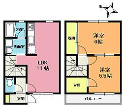 [テラスハウス] 埼玉県上尾市本町2丁目 の賃貸【/】の間取り