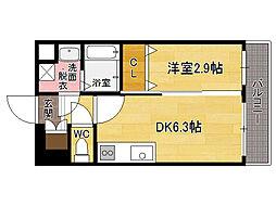 福岡県福岡市博多区堅粕3の賃貸マンションの間取り
