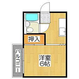 ヴィラ衣笠(開キ町)[201号室]の間取り