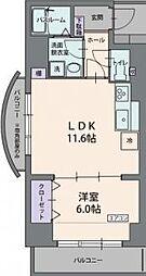 静岡県三島市北田町の賃貸マンションの間取り