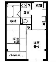 神奈川県横浜市磯子区東町の賃貸マンションの間取り
