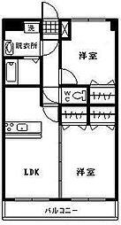 ユーミーMitsuki[205号室]の間取り