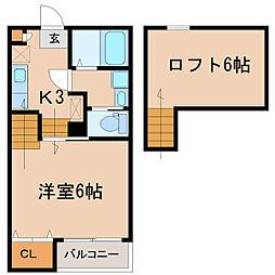 YURI-NA鹿屋[203号室]の間取り