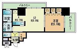 RJRプレシア吉塚駅前[1008号室]の間取り