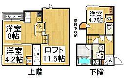 コンフォート ベネフィス 賀茂I[1階]の間取り