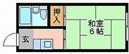 コーポモザン108[2階]の間取り
