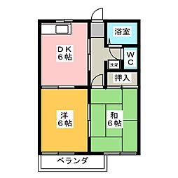 フォーブルマキタ2[1階]の間取り