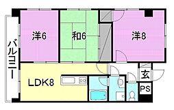 キャステール枝松[605 号室号室]の間取り