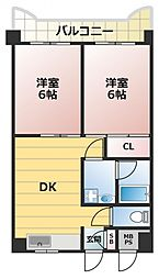 FDS深江橋[5階]の間取り