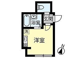 La gracieuse 102号室 新築アパート 1階ワンルームの間取り