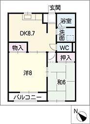 ドエルマルシェE棟[2階]の間取り