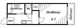 メイプルハイツ壱番館[2階]の間取り