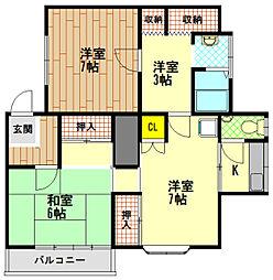 天神町ハウス[2階]の間取り