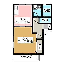 デルニエV[2階]の間取り