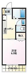 メゾンドOPAL II[1階]の間取り