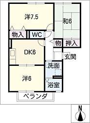 オアシスFIVEII[3階]の間取り