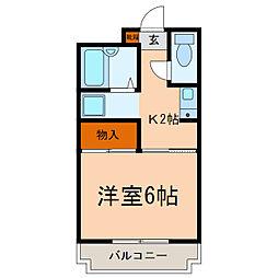 サンモール松崎[105号室]の間取り