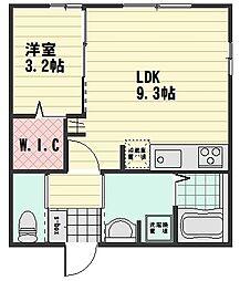 (仮)D-room大町西3丁目[104号室]の間取り