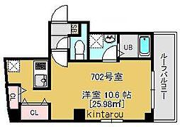 プラージュ東千葉[702号室]の間取り