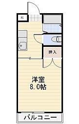 シャルム桐原[2階]の間取り