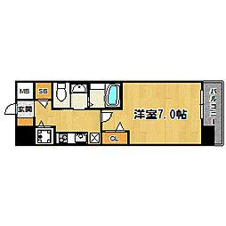 大阪WESTレジデンス[801号室]の間取り