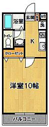 グリーン・ヨシエ2[108号室]の間取り