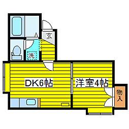 北海道札幌市東区北十条東15丁目の賃貸アパートの間取り