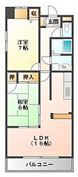 アライブ江坂II[3階]の間取り
