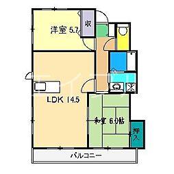 ルエハウス[2階]の間取り