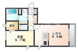 セジュール垂水EAST[2階]の間取り
