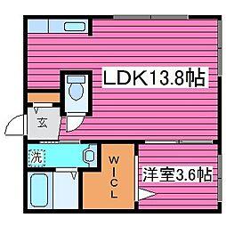 北海道札幌市東区北四十三条東18丁目の賃貸マンションの間取り