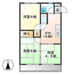 東明コーポ[2階]の間取り