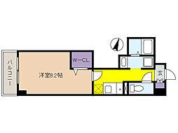 新芦屋ビル 3階1Kの間取り