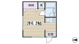 パークサイドハウス文京[102号室]の間取り