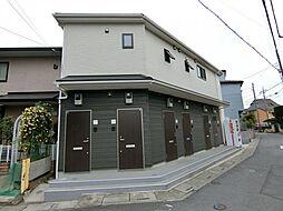 埼玉県草加市谷塚町の賃貸アパートの外観