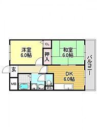 平成ハウス[4O6号室号室]の間取り