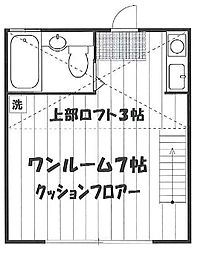 東京都練馬区豊玉上1丁目の賃貸アパートの間取り