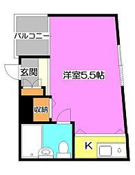 東京都練馬区東大泉4丁目の賃貸マンションの間取り