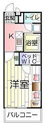 東京都足立区入谷4丁目の賃貸アパートの間取り