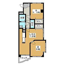 ラ・ボジョワール III[3階]の間取り