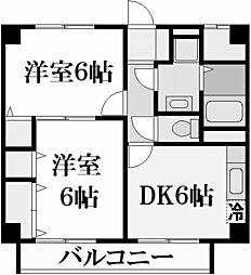 夙川フィネス[3階]の間取り