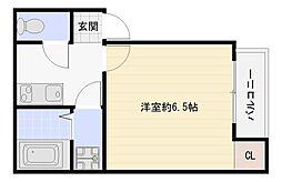 大阪府大阪市平野区加美正覚寺1丁目の賃貸アパートの間取り