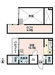 愛知県名古屋市中川区小本1丁目の賃貸アパートの間取り