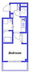 JR京浜東北・根岸線 浦和駅 徒歩10分の賃貸マンション 3階1Kの間取り