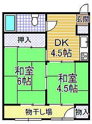 大正橋マンション[208号室]の間取り