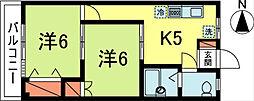 山崎マンション[205号室]の間取り