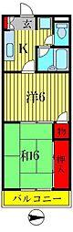 リバパレス[2階]の間取り