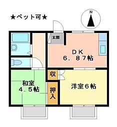 神の倉ハイツI・II[2階]の間取り