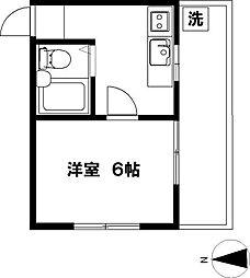 横山アパート[201号室]の間取り