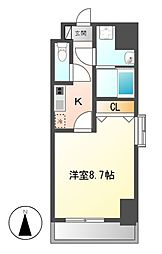 PRESTAGE 名駅[5階]の間取り